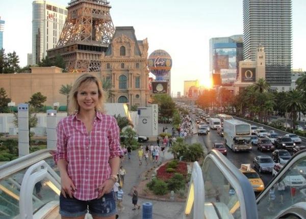 Apresentadora Eliana em Las Vegas