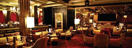 GOLD LOUNGE ARIA HOTEL LAS VEGAS