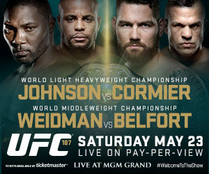 Comprar Ingressos do UFC 187 Las Vegas - lutas de Chris Weidman x Vitor Belfort e Jones x Johnson