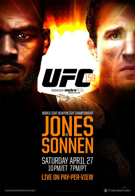 Ingressos UFC 159 Jon Jones X Chael Sonnen