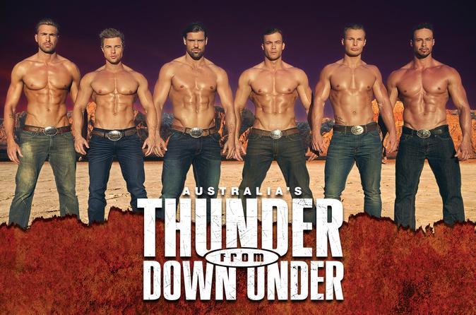 Thunder from Down Under atração para mulheres em Las Vegas