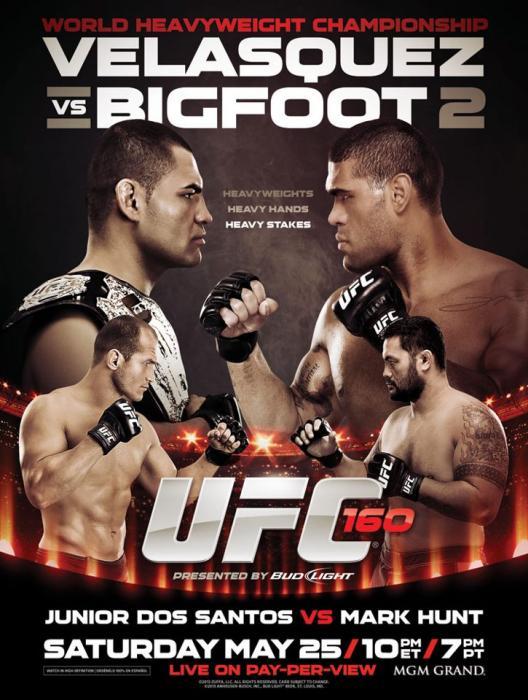 Ingressos UFC 160 Cain Velasquez X Antonio Silva E Junior Dos Santos X Alistair Overeem - 25/maio -  Las Vegas