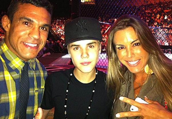 Joana Prado, Vitor Belfort e Justin Bieber juntos em Las Vegas