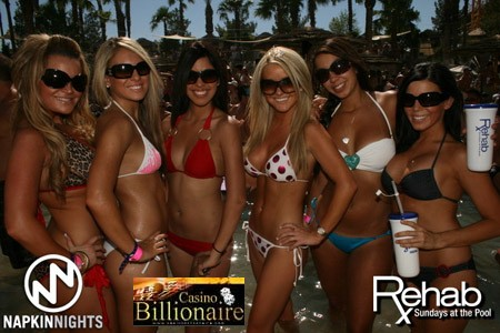 Festa na piscina do Hard Rock Hotel Casino Las Vegas